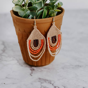 Load image into Gallery viewer, Beaded Sunset Earrings