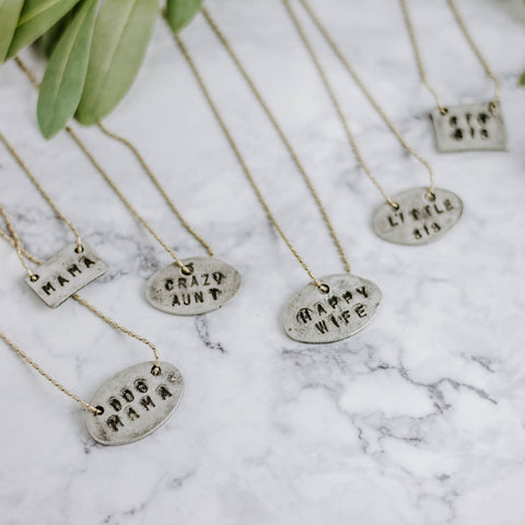 Gold & Silver Stamped Necklaces