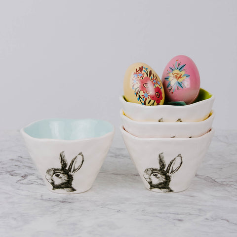 Ceramic Rabbit Bowl