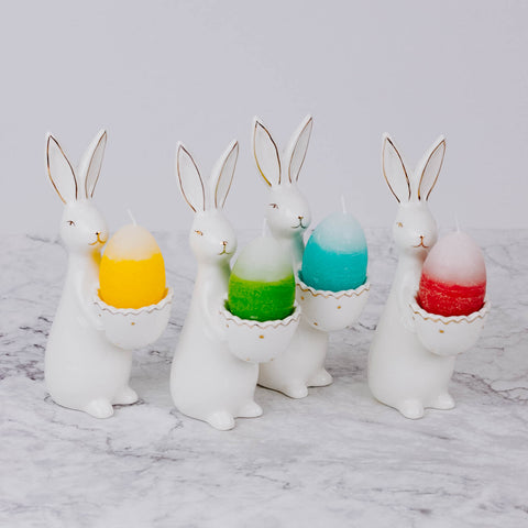 Bunny Candle Holder with Egg Candle