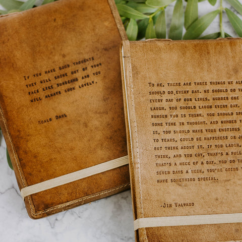Quote Leather Journal