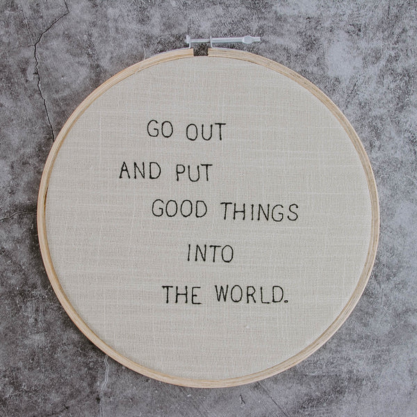 Quote Embroidery Hoop
