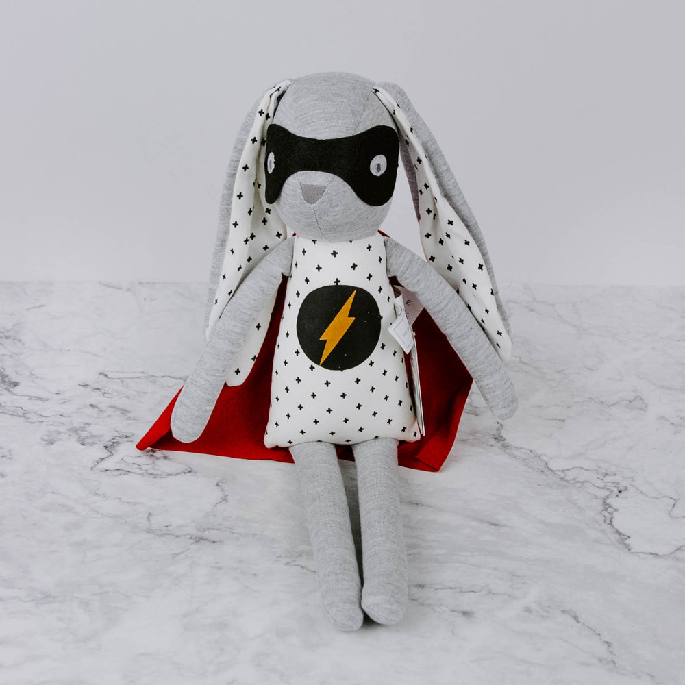 Load image into Gallery viewer, Plush Superhero Bunny