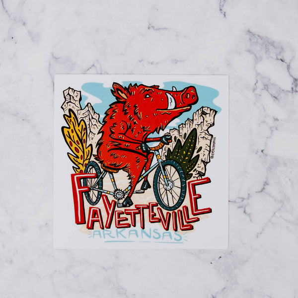 Illustrated Fayetteville Vinyl Stickers
