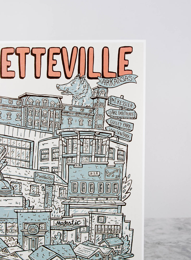 Illustrated Fayetteville Print