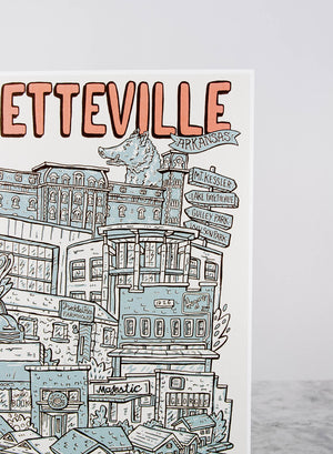 Load image into Gallery viewer, Illustrated Fayetteville Print