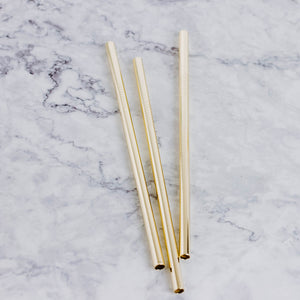 Shiny Gold Reusable Straw