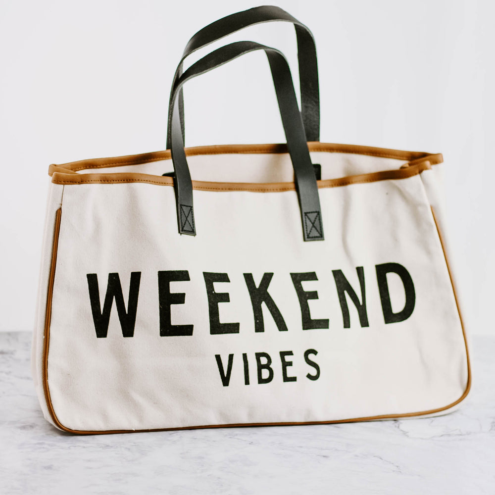 Weekend Vibes Canvas Tote Bag