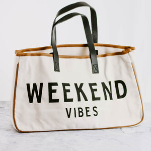 Load image into Gallery viewer, Weekend Vibes Canvas Tote Bag