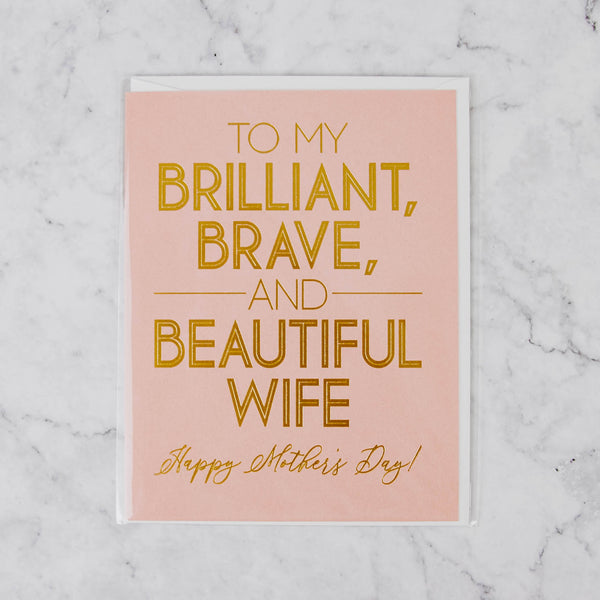 To My Wife Mother's Day Card