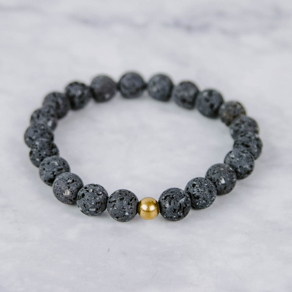 Load image into Gallery viewer, Black Lava Bracelet