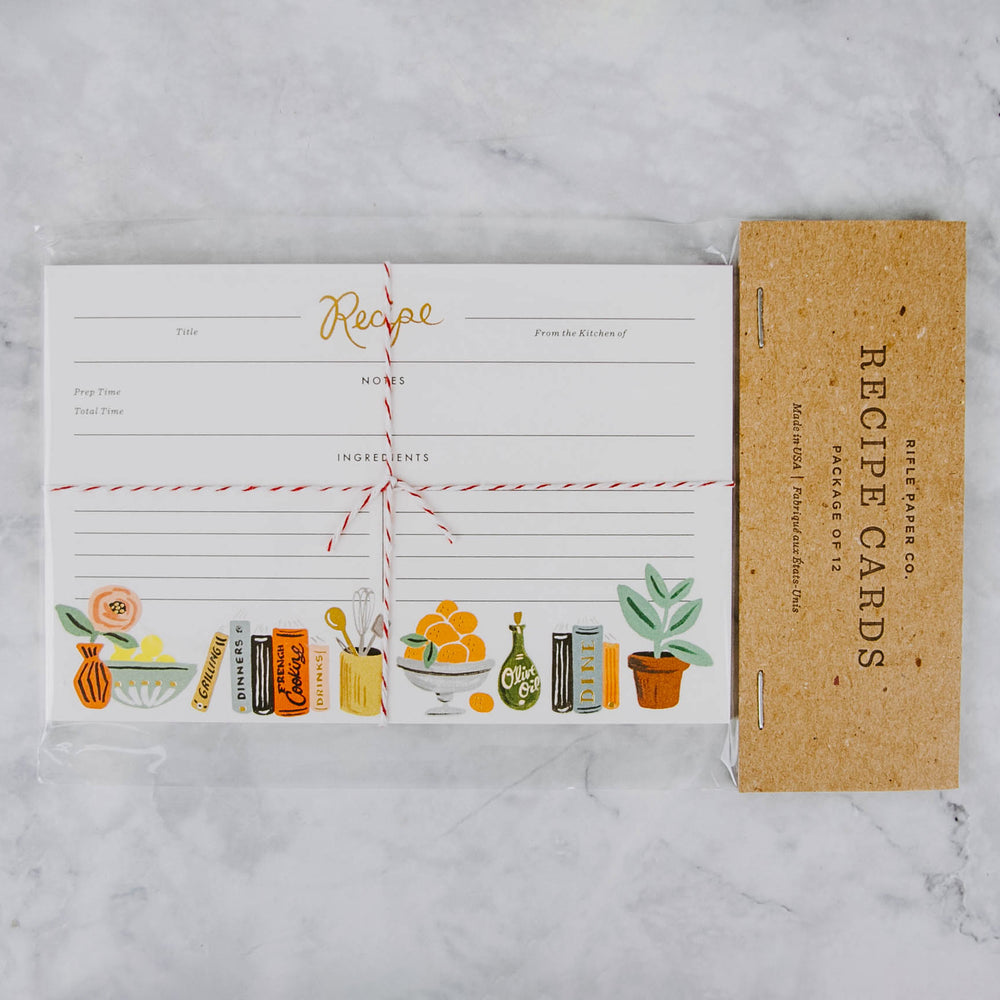 Cookbook Recipe Cards