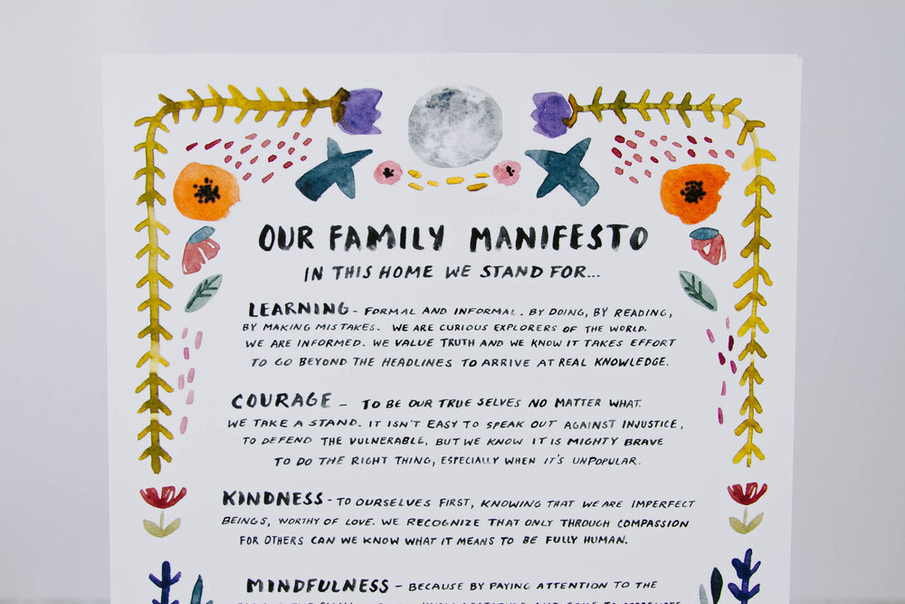 Load image into Gallery viewer, Family Manifesto Print