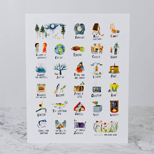 Load image into Gallery viewer, ABCS of Life Print