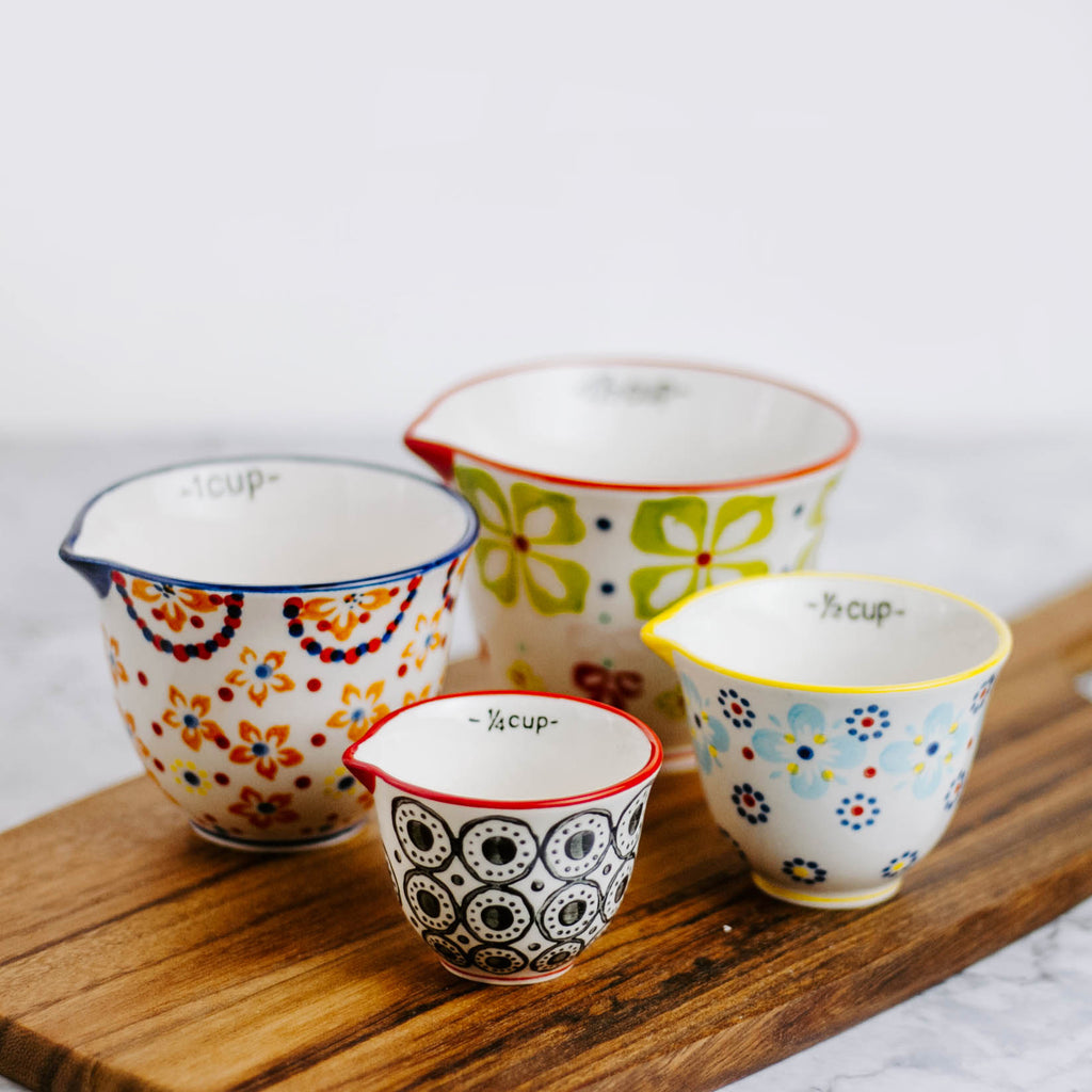 Ceramic Floral  Measuring Cups
