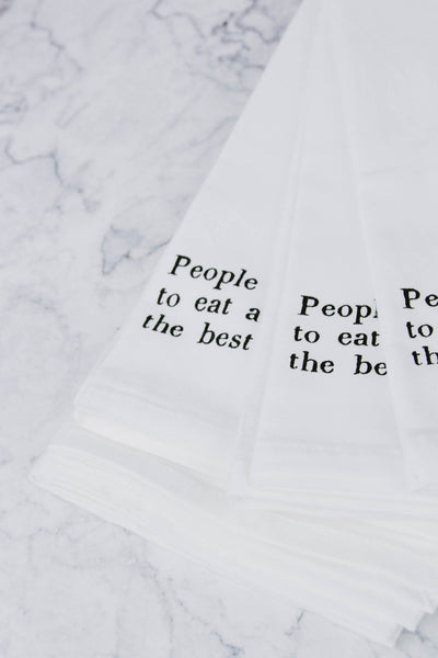 People Who Love To Eat Napkin Set