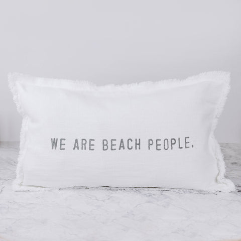 Beach People Pillow