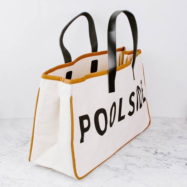 Poolside Canvas Tote Bag