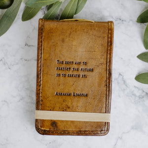 Load image into Gallery viewer, Leather Quote Notebooks