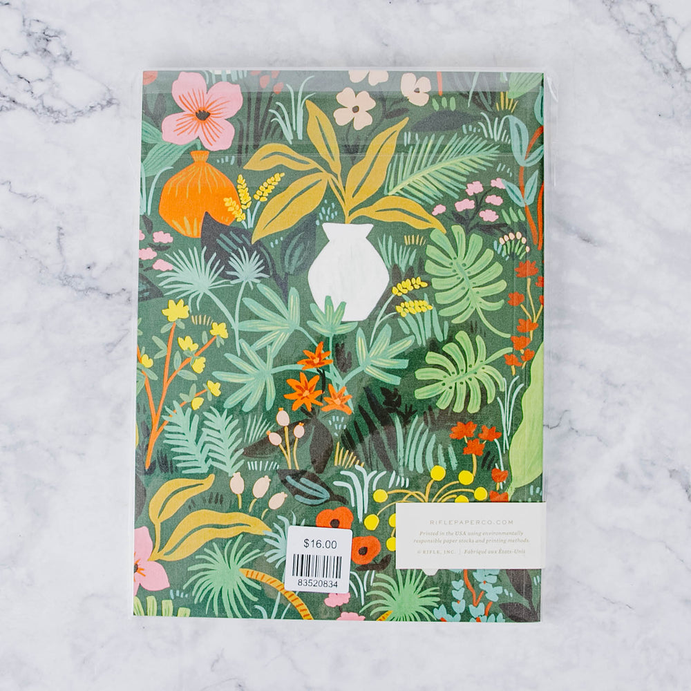 Green & Bright Floral Notebook