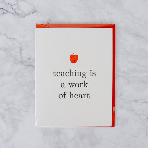Paper Source Teacher Card