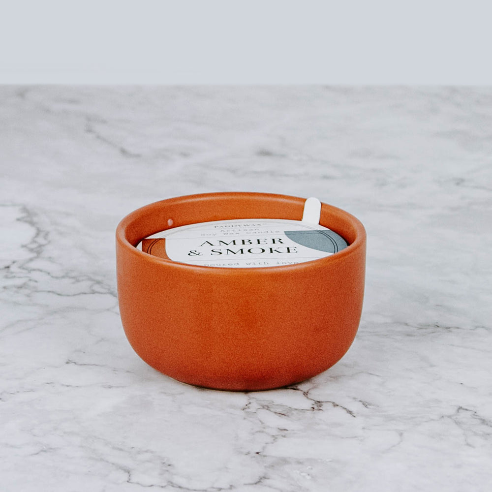 Amber & Smoke Ceramic Candle