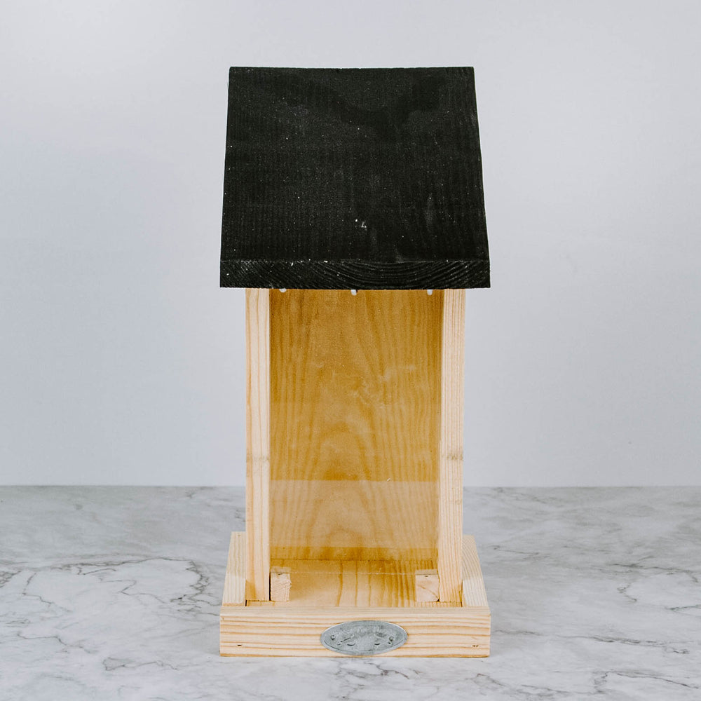 Black Roof Bird Feeder