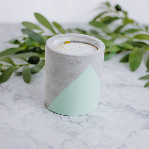 Concrete Pot Candle