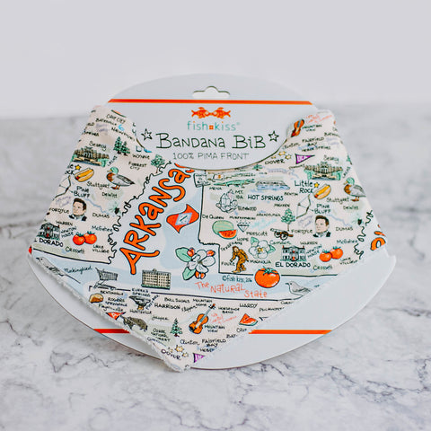 Arkansas Map Baby Hat & Bib