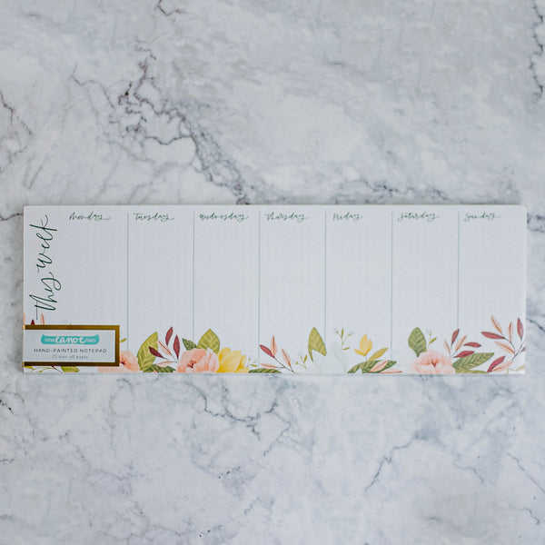 Floral Daily List Notepad