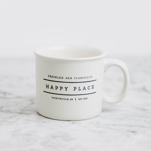 Freckled Hen Happy Place Mug