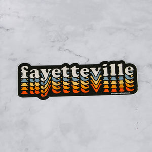 Load image into Gallery viewer, Retro Fayetteville Vinyl Stickers