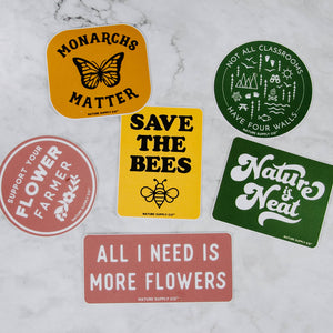 Nature Vinyl Stickers