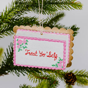 Load image into Gallery viewer, Treat Yo Self Cake Ornament