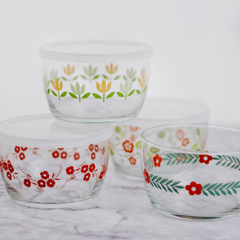 Floral Glass Containers