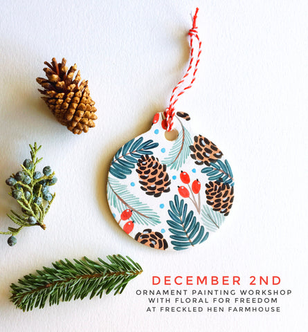 Ornament Painting Workshop with Florals for Freedom: December 2nd