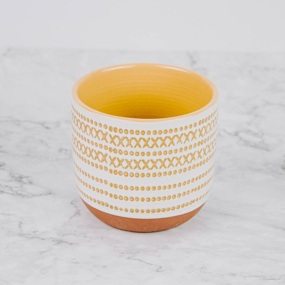Load image into Gallery viewer, Cream & Mustard Planter