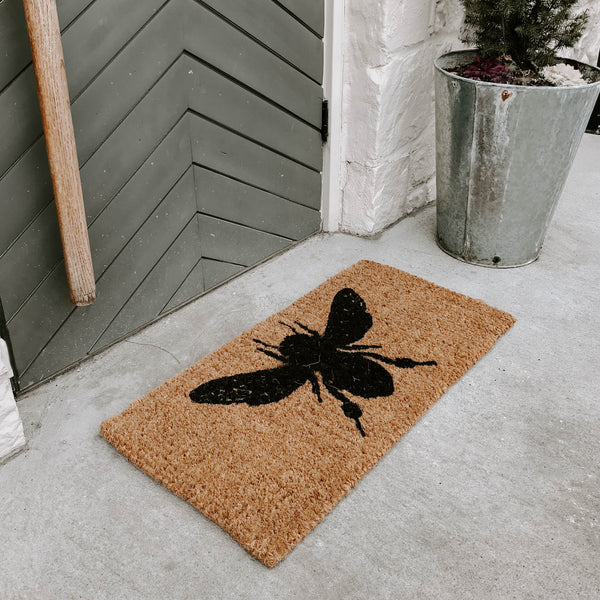 Vintage Bee Door Mat