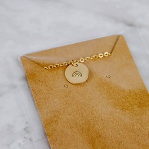 Gold Stamped Charm Necklace