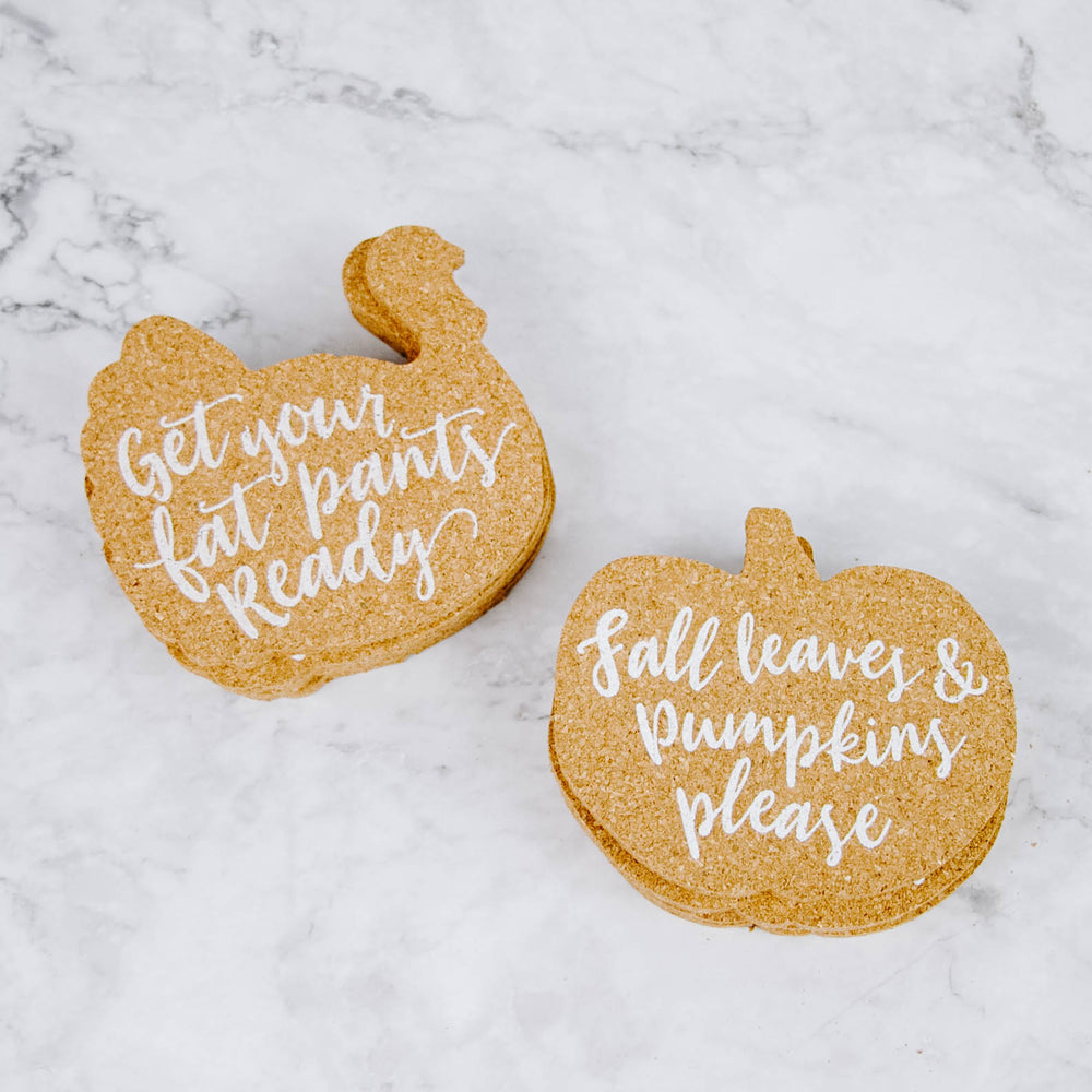 Thanksgiving Cork Coaster Set