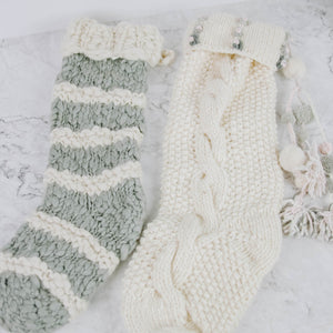 Load image into Gallery viewer, Hand Knit Wool Stocking