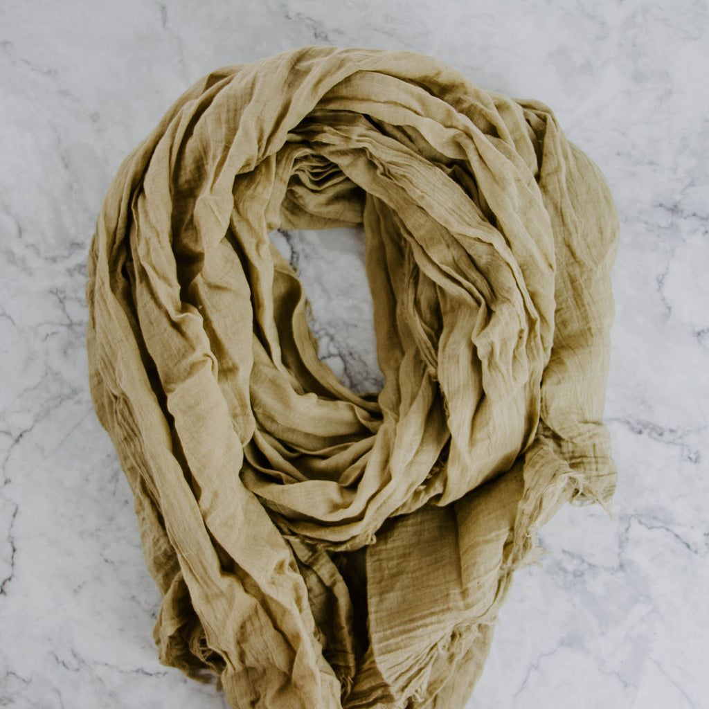 Sage Green Antique Dyed Scarf