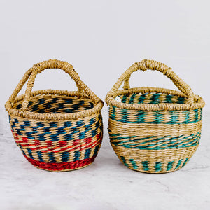 Small Colorful Seagrass Basket