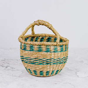 Load image into Gallery viewer, Small Colorful Seagrass Basket