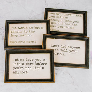 Framed Quote Wall Art