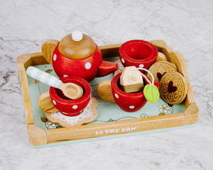 Polka Dot Wooden Tea Set