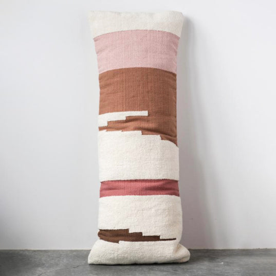 Hand-Woven Terra Cotta Body Pillow
