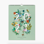 2021 Floral Appointment Wall Calendar