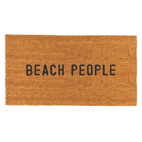 Beach People Door Mat