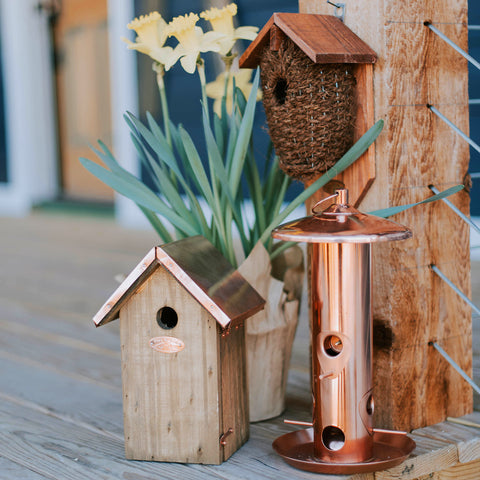 Copper Seed Feeder